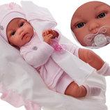 Кукла младенец реборн девочка, озвученная, Antonio Juan Toneta Cojin 7038, Антонио Хуан