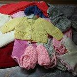 Одежда вязаная ручной работы для кукол пупсов капусток Готц винтажек.