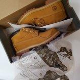 Жёлтые ботинки Timberland , Тимберленд оригинал нубук . новые