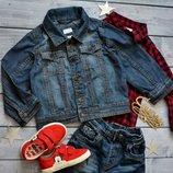 Классная джинсовый пиджак 1.5-2года