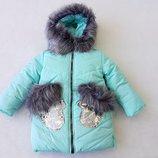 Пальто зимнее 104-128