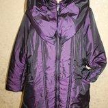48 Eur. Стильная куртка Per Una необычного кроя. Теплая Утеплена синтепоном. Длина по спинке - 8
