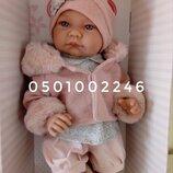 Виниловая кукла реалити пупс реборн младенец девочка, 40см, Antonio Juan 3378, Антонио Хуан