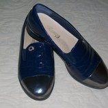 Отличные туфли в школу Стелька 21см