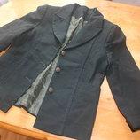 Школьная форма.Пиджак для девочки детский темно-зеленый,черный