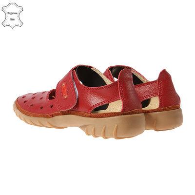 Стиль И Качество Красные Туфли Мокасины Натуральная Кожа 4REST-USA