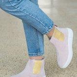 Ботинки в стиле челси Натуральная кожа Скидки на наличие