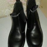Спецобувь. Кожаные рабочие ботинки.