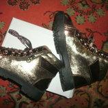 ботинки новинки золото