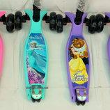 Самокат MicMax Дисней Smart усиленные колеса, складной, светящийся колеса для девочки