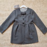 Шерстяное пальто демисезонное для девочки 128см 8лет Mayoral Испания