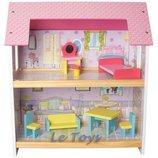 Деревянный кукольный домик MD 1052сд