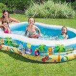 Детский надувной бассейн Райская лагуна 262 160см Интекс 56490 Intex