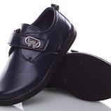 Туфли на мальчика на липучке синие 27-32 р Ввт арт 700-2.