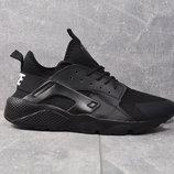 Бомба 2018. Мужские кроссовки Nike Huarache черные 970Н