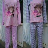 Пижама со штанами, хлопок, интерлок, Кофта и штаны, р.40-42-44-46-48-50-52