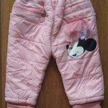 Утепленные штанишки с Минни на 2-3 года
