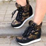 Крутые Ботинки Ботинки Кроссовки Полусапожки Натуральный Замш