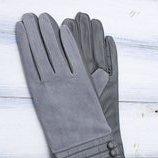 Женские перчатки кожа и замш