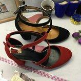 Туфли с ремешками на учтойчивом каблуке 4,6,8,9 см