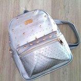 Городской женский рюкзак donnie серебристый арт.709 скл.10