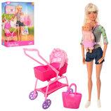 Кукла с ребенком Defa 8380 кукла с пупсом коляска, пупс аксессуары