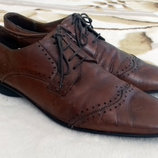 Натуральная кожа Мужские туфли от Rubber 44 размера. Стелька 30,5 см, по подошве снаружи от края