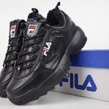 Зимние кроссовки Fila Disruptor 2 black