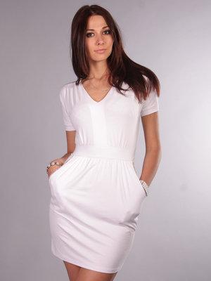 45da622e9ea Белое трикотажное платье  150 грн - женские повседневные платья в ...