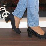 Туфли замшевые на каблуке.Р.36-38