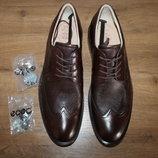 Мужские кожаные туфли от известного бренда ECCO, оригинал