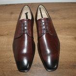 Классические кожаные туфли дерби от известного бренда Ecco, оригинал