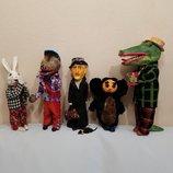 Игрушка кукла Ссср единичный экземпляр Папье-Маше сказка мультфильм заяц волк ну погоди чебурашка