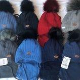 Зимний набор Шапка и шарф для мальчиков