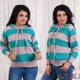 Женский джемпер с капюшоном вязаный теплый женские свитера вязаные кофты вязаная кофта свитер шерсть