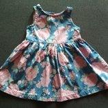 Платье с розами. Красивое платье для малышки