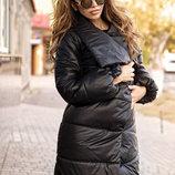 Стёганное пальто на синтепоне, куртка Зима 713вш