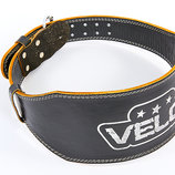 Пояс для пауэрлифтинга кожаный Velo 6628 размер S-XXL