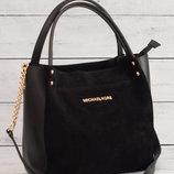 Замшевая сумка Майкл Корс,черная.