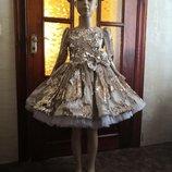 Нарядное платье из паеток-перевертышей
