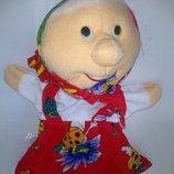 Игрушки мягкие Куклы перчатки кукла баба, бабка