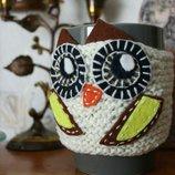Чехол на чашку сова
