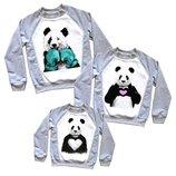 Комплект свитшотов Панды, медведи