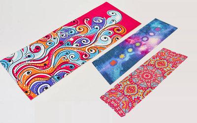 Коврик для йоги двухслойный замшевый 6880 йога мат 3 цветов, 1,73x0,61мx3мм