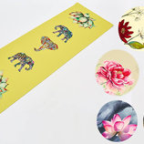 Коврик для йоги двухслойный лен каучук 7157 йога мат 6 цветов, 1,83x0,61мx3мм