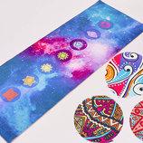 Коврик для йоги двухслойный замшевый 6873 йога мат 3 цвета, 1,73x0,61мx6мм