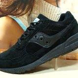 Мужские кроссовки Saucony Shadow черные 41р-46р