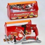 Набор инструментов Power Tools 4 инструмента с насадками и маска 2997 ролевые игры слесарь мастерска
