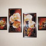 Картина Орхидеи алмазная вышивка мозаика готовая работа на подарок