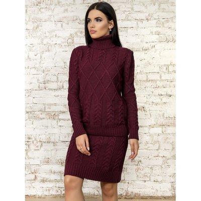 cdc353e061e Красивый теплый вязаный костюм двойка юбка и кофта: 685 грн ...